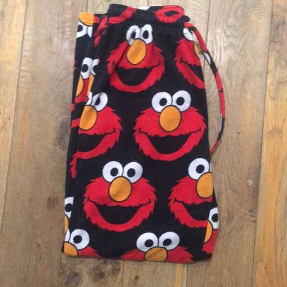 1de9f0e8347 Sesame Street Elmo Pajama Pants Pj Bottoms